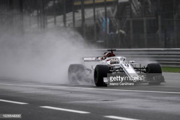 Marcus Ericsson of Sweden and Sauber Alfa Romeo on track during practice for the Formula One Grand Prix of Italy