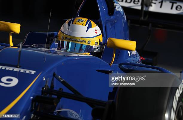 Marcus Ericsson of Sweden and Sauber F1 drives during day four of F1 winter testing at Circuit de Catalunya on March 4 2016 in Montmelo Spain