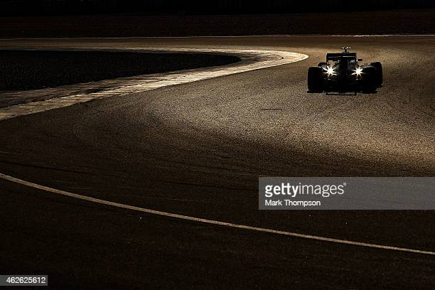 Marcus Ericsson of Sweden and Sauber F1 drives during day one of Formula One Winter Testing at Circuito de Jerez on February 1 2015 in Jerez de la...