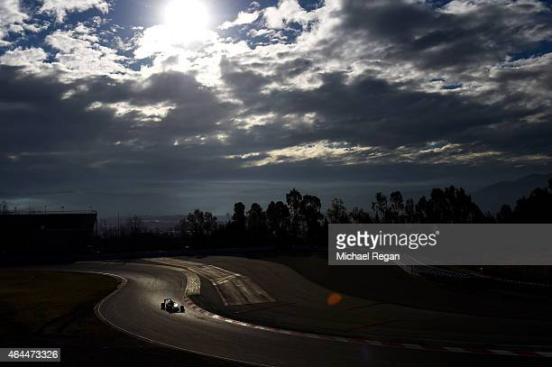 Marcus Ericsson of Sweden and Sauber F1 drives during day one of the final Formula One Winter Testing at Circuit de Catalunya on February 26 2015 in...
