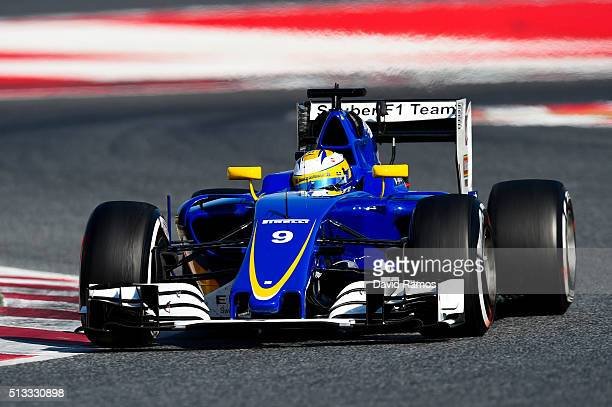 Marcus Ericsson of Sweden and Sauber F1 drives during day two of F1 winter testing at Circuit de Catalunya on March 2 2016 in Montmelo Spain