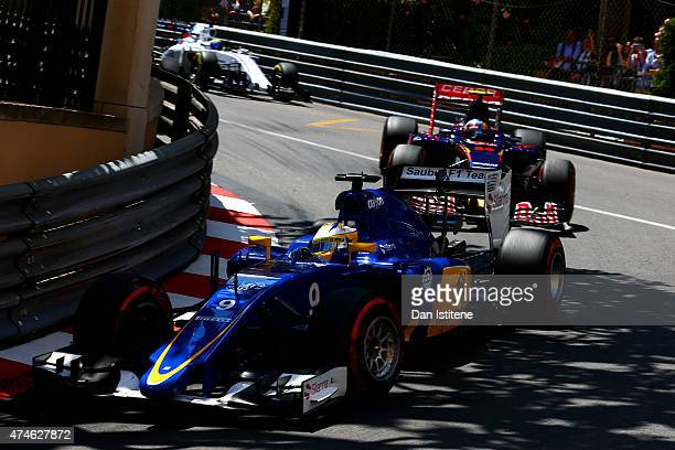 Marcus Ericsson of Sweden and Sauber F1 drives during the Monaco Formula One Grand Prix at Circuit de Monaco on May 24 2015 in MonteCarlo Monaco