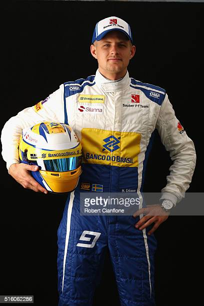 Marcus Ericsson of Sweden and Sauber F1 during previews to the Australian Formula One Grand Prix at Albert Park on March 17 2016 in Melbourne...