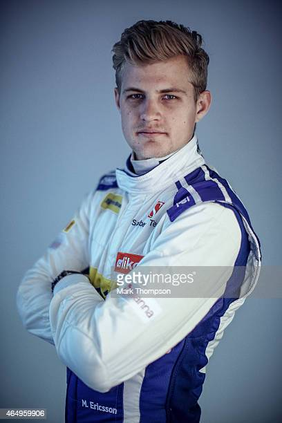 Marcus Ericsson of Sweden and Sauber F1 poses for a portrait during day three of Formula One Winter Testing at Circuit de Catalunya on February 21...