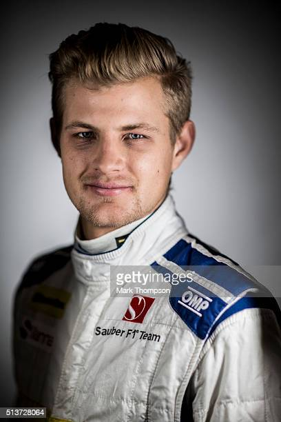 Marcus Ericsson of Sweden and Sauber F1 poses for a portrait during day three of F1 winter testing at Circuit de Catalunya on March 3 2016 in...