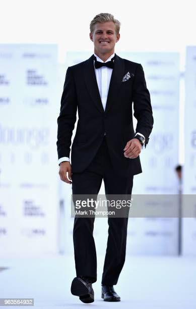 Marcus Ericsson of Sweden and Sauber F1 walks the catwalk at the Amber Lounge Fashion show during previews ahead of the Monaco Formula One Grand Prix...