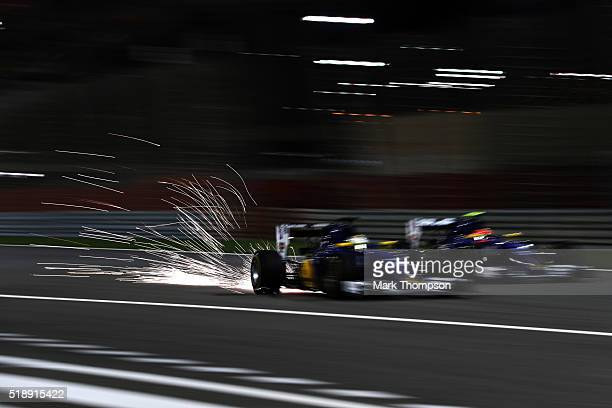 Marcus Ericsson of Sweden drives the Sauber F1 Team Sauber C35 Ferrari 059/5 turbo and Felipe Nasr of Brazil drives the Sauber F1 Team Sauber C35...