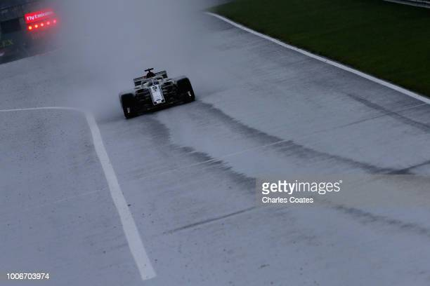 Marcus Ericsson of Sweden driving the Alfa Romeo Sauber F1 Team C37 Ferrari on track during qualifying for the Formula One Grand Prix of Hungary at...