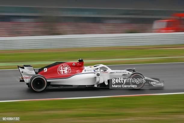 CATALUNYA MONTMELò BARCELONA SPAIN Marcus Ericsson of Sweden driving the Alfa Romeo Sauber F1 Team C37 Ferrari on track during day one of F1 Winter...