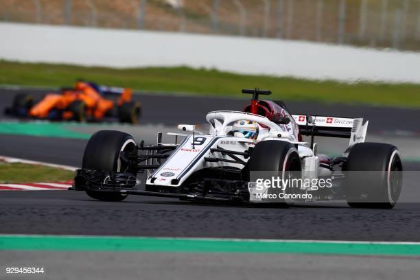 CATALUNYA MONTMELò BARCELONA SPAIN Marcus Ericsson of Sweden driving the Alfa Romeo Sauber F1 Team C37 Ferrari on track during day three of F1 Winter...