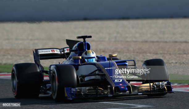 Marcus Ericsson of Sweden driving the Sauber F1 Team Sauber C36 Ferrari on track during day three of Formula One winter testing at Circuit de...