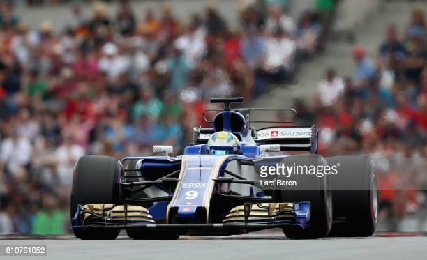 Marcus Ericsson of Sweden driving the Sauber F1 Team Sauber C36 Ferrari on track during qualifying for the Formula One Grand Prix of Austria at Red...