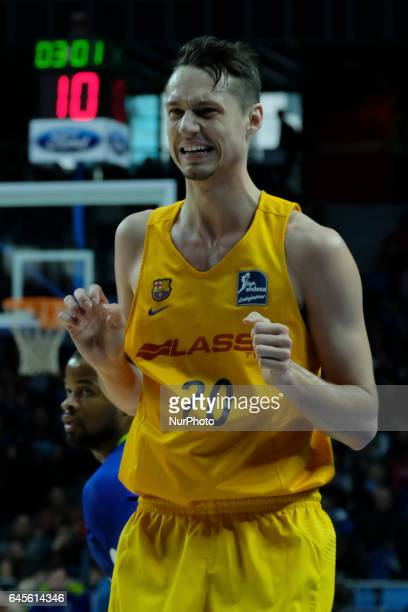 d7c210797 Marcus Eriksson of Barcelona during their Spanish liga ACB basketball  Estudiantes vs Barcelona game at Palacio