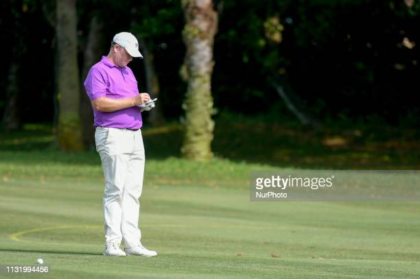 Marcus Fraser of Australia in action on Day Two of the Maybank Championship at Saujana Golf and Country Club on March 22 2019 in Kuala Lumpur Malaysia