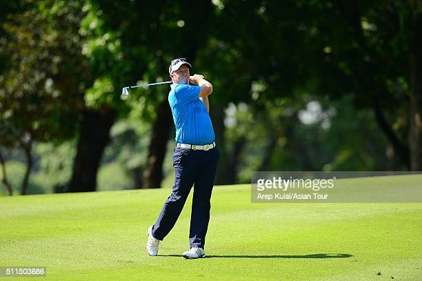 Marcus Fraser of Australia pictured during the fourth round of the Maybank Championship Malaysia at Royal Selangor Golf Club on February 21 2016 in...