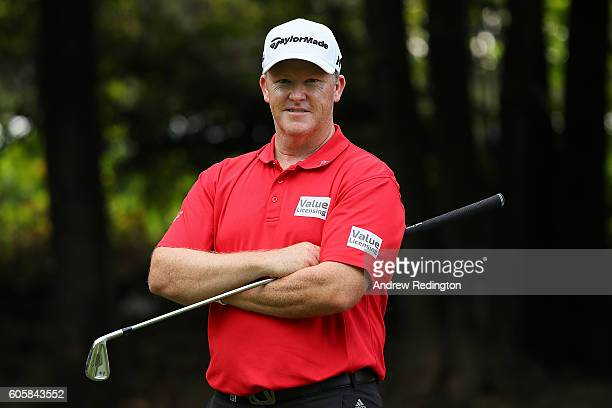 Marcus Fraser of Australia poses during the first round of the Italian Open at Golf Club Milano on September 15 2016 in Monza Italy