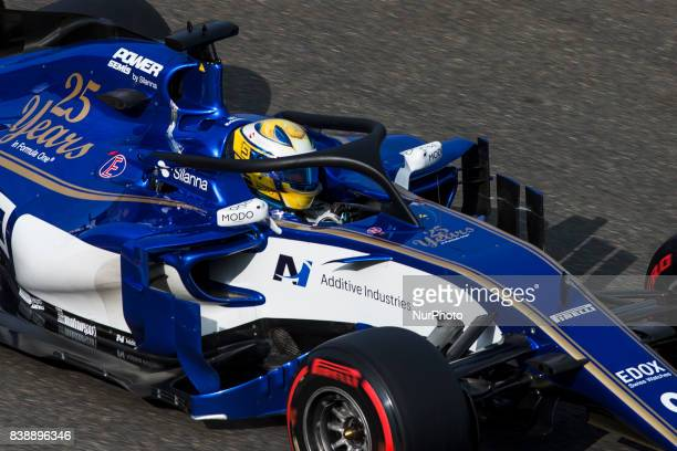 Marcus from Sweden Sauber F1 using the Halo during the Formula One Belgian Grand Prix at Circuit de SpaFrancorchamps on August 25 2017 in Spa Belgium