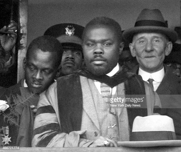 Marcus Garvey 'Africa's Provisional President' during the renaming of the ship from the 'General GW Goethals' to the SS Booker T Washington