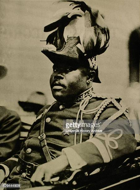 Marcus Garvey JamaicanBorn Activist Political Leader and Proponent of Black Nationalism and PanAfricanism Movements Riding in Car at UNIA Parade New...