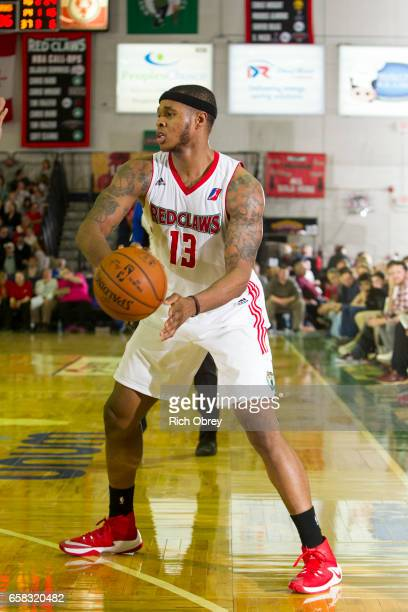 Marcus GeorgesHunt of the Maine Red Claws looks to pass against the Reno Bighorns on Sunday March 26 2017 at the Portland Expo in Portland Maine NOTE...