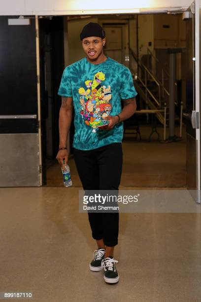 Marcus GeorgesHunt of the Minnesota Timberwolves arrives before the game against the Denver Nuggets on December 27 2017 at Target Center in...