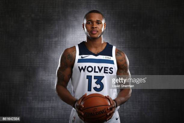 Marcus GeorgesHunt of the Minnesota Timberwolves pose for portraits during 2017 Media Day on September 22 2017 at the Minnesota Timberwolves and Lynx...