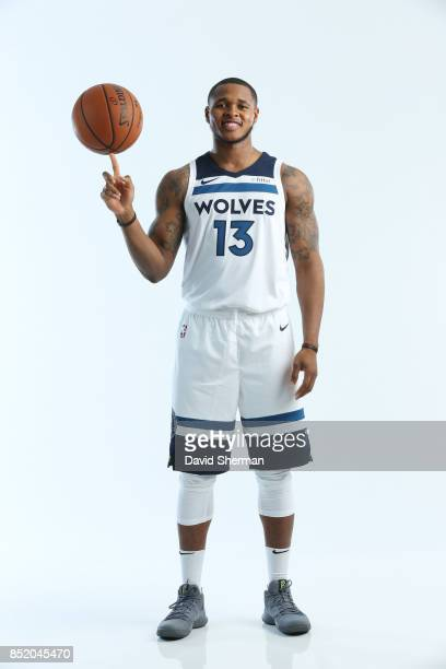 Marcus GeorgesHunt of the Minnesota Timberwolves poses for portraits during the 2017 Media Day on September 22 2017 at the Minnesota Timberwolves and...
