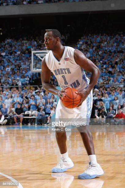 Marcus Ginyard of the North Carolina Tar Heels looks to move the ball during the game against the Rutgers Scarlet Knights on December 28, 2008 at the...