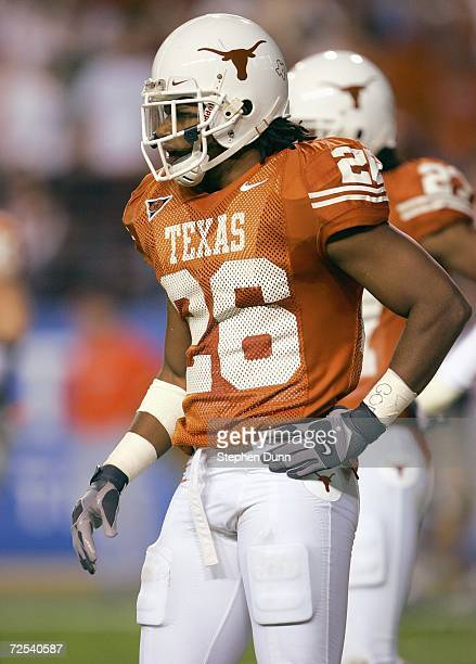 Marcus Griffin of the Texas Longhorns walks on the field during the game against the Oklahoma State Cowboys on November 4 2006 at Texas Memorial...