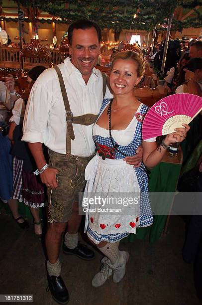 Marcus Grusser and Jessica Boehrs sighting at Theresienwiese on September 24 2013 in Munich Germany