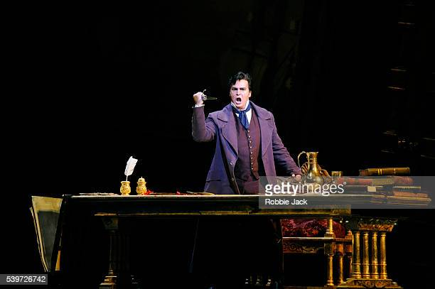 """Marcus Haddock performs in the Royal Opera's production of Giuseppe Verdi's """"Simon Boccanegra"""" at the Royal Opera House, Covent Garden in London."""