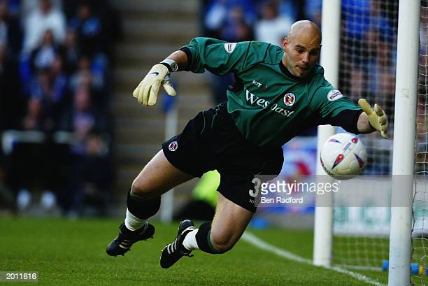 Marcus Hahnemann of Reading makes a save during the Nationwide League Division One play-off semi-final second leg match between Reading and...