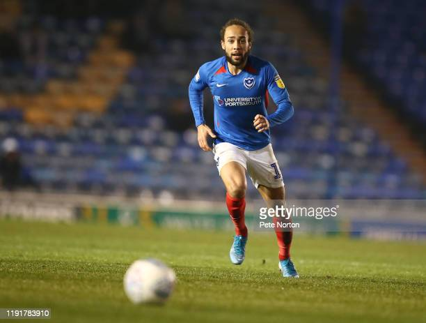 Marcus Harness of Portsmouth in action during the Leasingcom Trophy match between Portsmouth and Northampton Town at Fratton Park on December 03 2019...