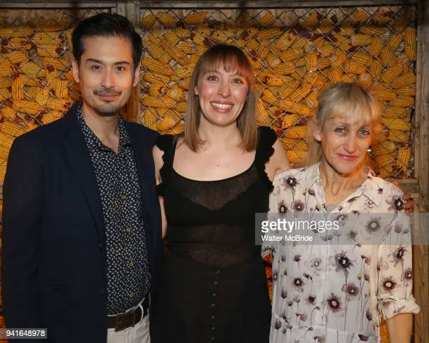 Marcus Ho Crystal Finn and Constance Shulman attend the opening night press reception for the Roundabout Theatre Company/Roundabout Underground...