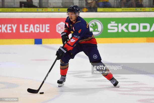 Marcus Hoegstroem of Stockholm in action during the Champions Hockey League match between Vienna Capitals and Djurgarden Stockholm at Erste Bank...