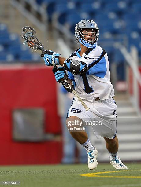 Marcus Holman of Ohio Machine passes against the Boston Cannons in the first half at Gillette Stadium on July 11 2015 in Foxboro Massachusetts