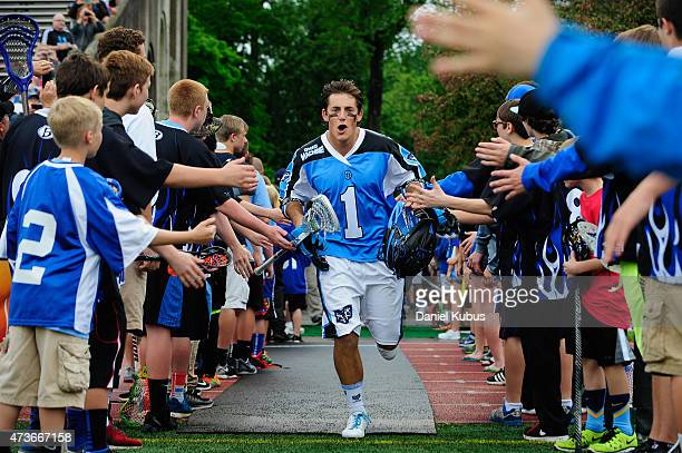 Marcus Holman of the Ohio Machine takes the field at Selby Stadium on May 16 2015 in Delaware Ohio Ohio defeated Charlotte 1410