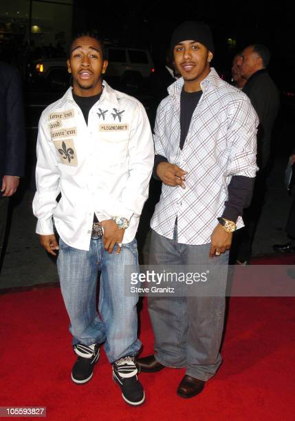 Marcus Houston and Omarion during 'Coach Carter' Los Angeles Premiere Arrivals at Grauman's Chinese Theatre in Hollywood California United States