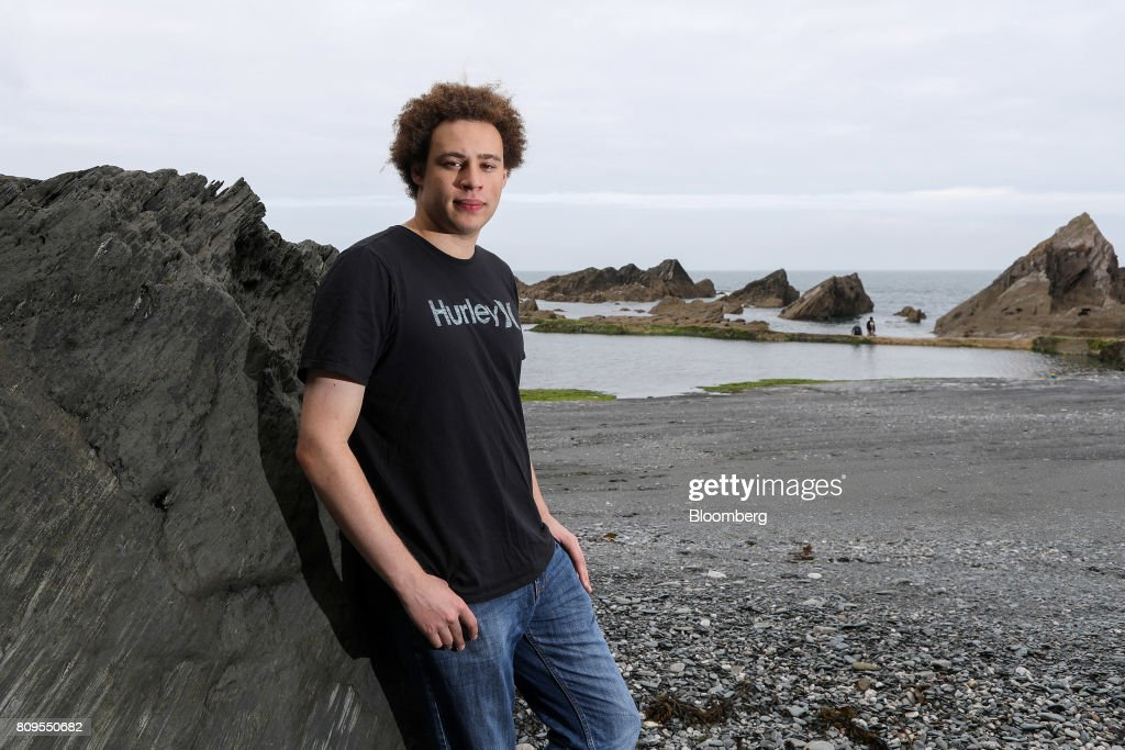 Marcus Hutchins, digital security researcher for Kryptos Logic, poses for a photograph on Tunnels Beaches in Ilfracombe, U.K., on Tuesday, July 4, 2017. Hutchins, the 23-year-old who saved the world from a devastating cyberattack in May was asleep in his bed in the English seaside town of Ilfracombe last week after a night of partying when another online extortion campaign spread across the globe. Photographer: Chris Ratcliffe/Bloomberg via Getty Images