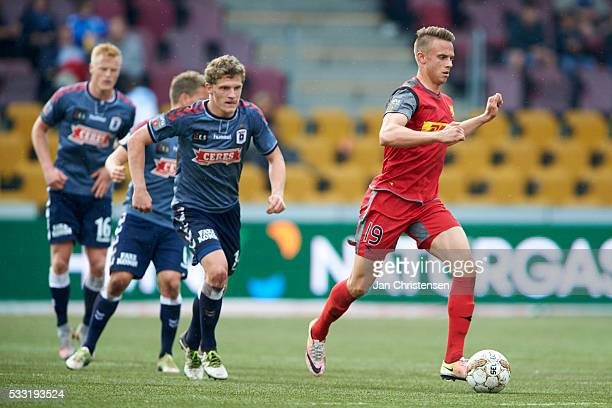 Marcus Ingvartsen of FC Nordsjalland in action during the Danish Alka Superliga match between FC Nordsjalland and AGF Arhus at Right to Dream Park on...