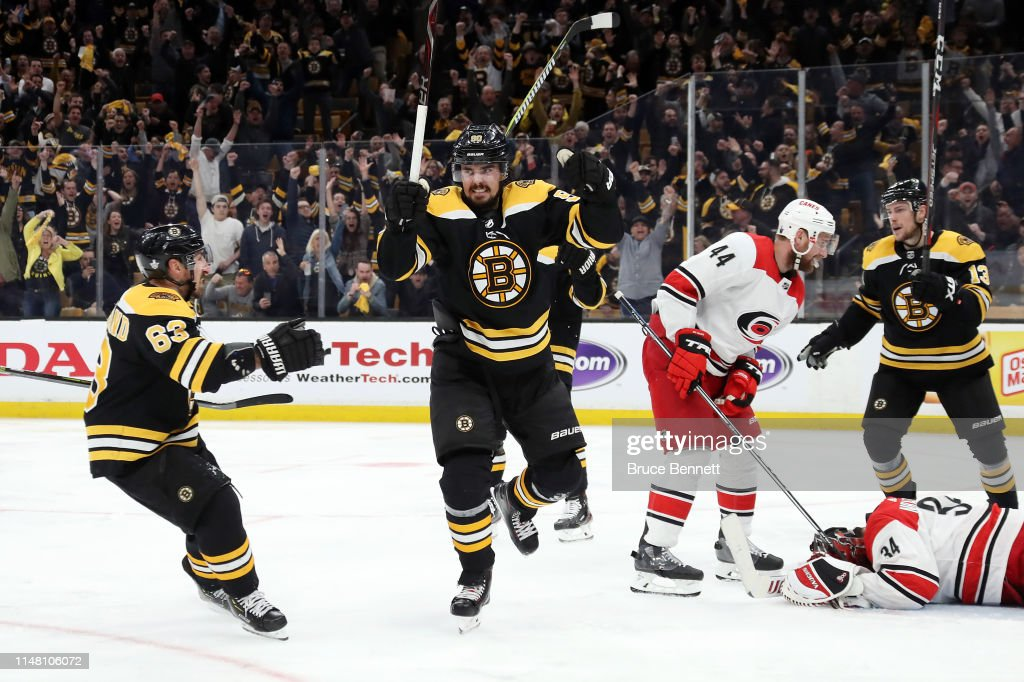 Carolina Hurricanes v Boston Bruins - Game One : News Photo