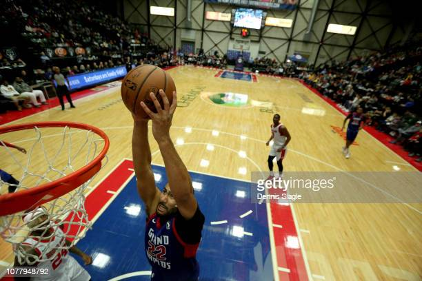 Marcus Jon Horford of the Grand Rapids Drive dunks the ball against the Maine Red Claws at The DeltaPlex Arena for the NBA GLeague on January 05 2019...