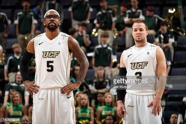 Marcus Jordan And AJ Rompza Of The UCF Knights Look On Against UAB Blazers During