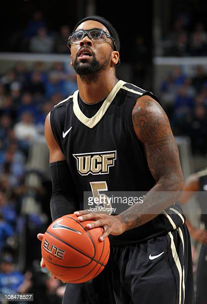 Marcus Jordan Of The UCF Knights Shoots A Free Throw Against Memphis Tigers On January