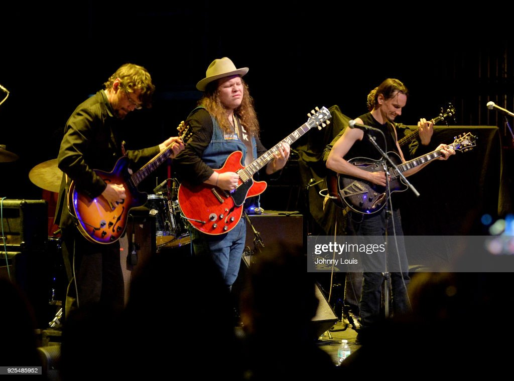 Marcus King of The Marcus King Band, Luther Dickinson, Shade Thomas, Cody Dickinson and Eric Vogel of North Mississippi Allstars perform at The Fillmore Miami Beach at Jackie Gleason Theater on February 25, 2018 in Miami Beach, Florida.
