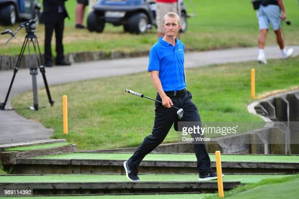 Marcus KINHULT of Sweden arrives on the 18th green during the HNA French Open on July 1 2018 in SaintQuentinenYvelines France