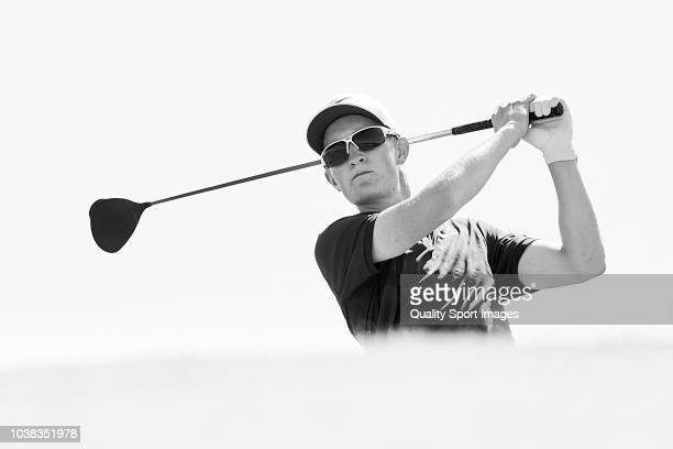 Marcus Kinhult of Sweden during day four of Portugal Masters at Dom Pedro Victoria Golf Course on September 23 2018 in Vilamoura Portugal