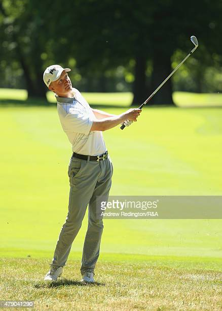 Marcus Kinhult of Sweden in action during the first round of The Open Championship Final Qualifying at Woburn Golf Club on June 30 2015 in Woburn...