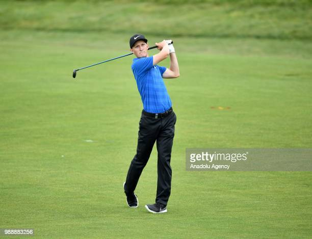 Marcus Kinhult of Sweden in action during the HNA Open de France as part of the European Tour 2018 at Le Golf National in Guyancourt near Paris...