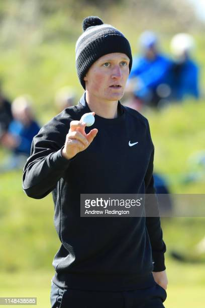 Marcus Kinhult of Sweden looks on during day three of the Betfred British Masters at Hillside Golf Club on May 11 2019 in Southport United Kingdom